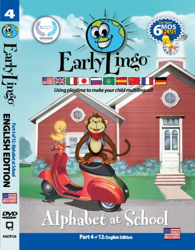 Early Lingo Alphabet at School DVD (Part 4 English)