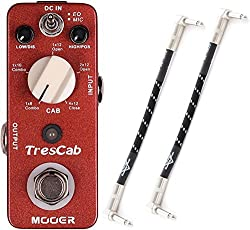 Mooer TresCab Speaker Simulator Effect Pedal w/ Patch Cables by Mooer
