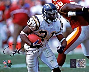 Ladainian Tomlinson Autographed Hand Signed 8x10 Photo San Diego Chargers LT Holo ID... by Hall of Fame Memorabilia