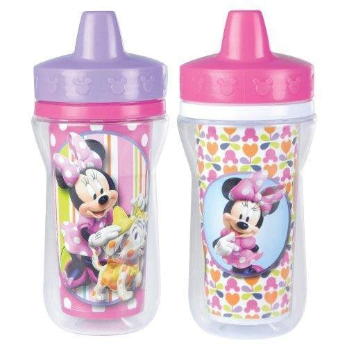 The First Years 2 Pack 9 Ounce Insulated Sippy Cup, Minnie Mouse New (The First Years 2 Pack Sippy Cup compare prices)
