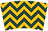 Mugzie® brand Cocktail Shaker with Insulated Wetsuit Cover - Green Bay Football Colors Chevron