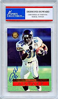 Desmond Howard Autographed Jacksonville Jaguars Encapsulated Trading Card - Certified Authentic
