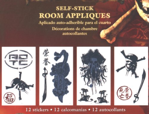 Self-Stick Appliques - Pirates Of The Carribean (4 Sheets Each 10 in. x 18 in. nominal)