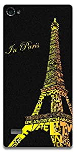 The Racoon Lean Love in Paris hard plastic printed back case / cover for Lenovo Vibe X2