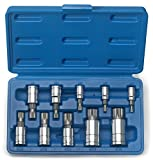 Neiko® 10056A XZN Triple Square Spline Bit Socket Set, 1/4-Inch, 3/8-Inch and 1/2-Inch Drive   Cr-V 10-Piece Set