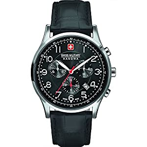 Swiss Military Hanowa Watches Men's Patriot Chronograph Watch With Black Dial