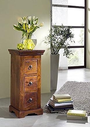 kolonialart Cassettiera massello acacia legno Oxford #501