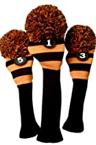 Majek Golf Club Head Covers: Black & Orange
