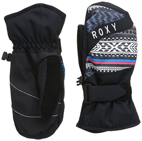 Roxy, Guanti Bambina Mouna Girl M, Multicolore (Toluca Stripe_Anthracite), S