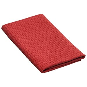 MysticMaid Microfiber Diamond-Weave Professional Bar Towel, Port Red, 29-1/2-Inch by 15-3/4-Inch