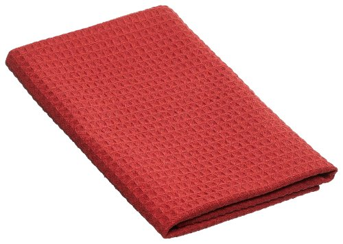 Mystic Maid G721BT-RG 29-1/2-by-15-3/4-inch Microfiber Diamond-Weave Professional Bar Towel, Port Red