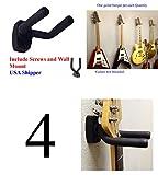 4-PACK Top StageTM Guitar Hanger Hook Holder Wall Mount Display, Fit most guitars, w/Mounting Hardware