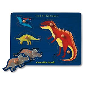 Crocodile Creek Dinosaurs Wooden Puzzle By Crocodile Creek