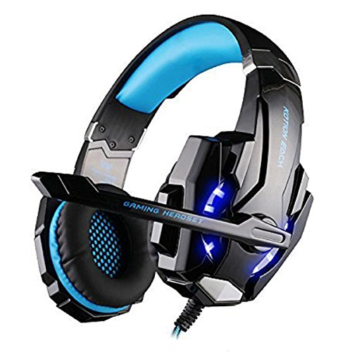 [Versione Aggiornamento] PC PS4per gaming musica cuffie, Megadream®? KOTION EACH G90003,5mm spina Stereo Over Ear Gaming Headset con microfono luce a LED per Sony Playstation 4COMPUTER PORTATILE Tablet iPhone Samsung cellulare