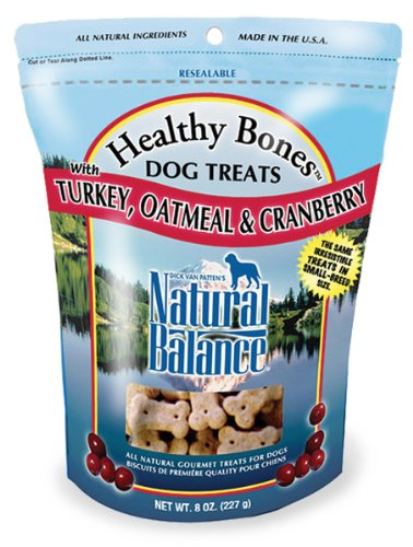 Natural Balance Turkey, Oatmeal and Cranberry Dog Treats, 8-Ounce Bag