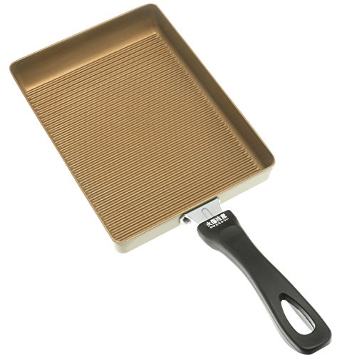 Kotobuki 410-537 Datemaki Japanese Rolled Omelette Pan, Gold