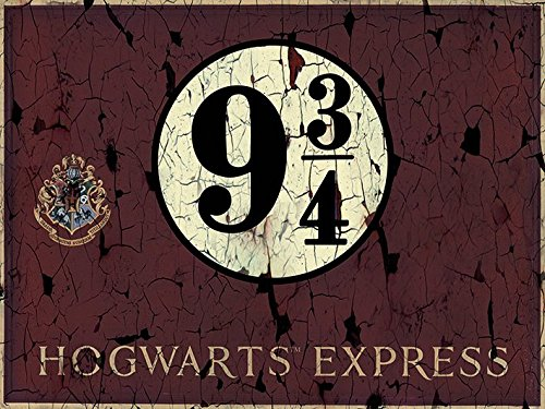 Harry Potter Hogwart s Express-Tela 60 x 80 cm, motivo: impronte, colore: multicolore
