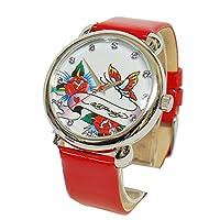 エドハーディー ed-bf EDEN Ed-Hardy 腕時計 エデン ホワイト×レッド 正規品 [時計] [時計]