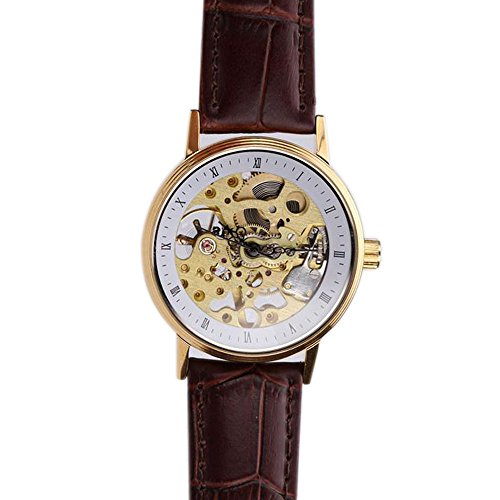 Luxury Brand Shanghai Retro Roman Numeral Skeleton Mechanical Woman Wristwatch