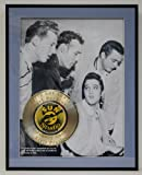 Million Dallor Quartet Laser Etched With the names Carl Perkins, Elvis Presley, Jerry Lee Lewis and Johnny Cash Limited Edition Gold Record Display