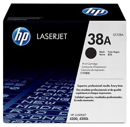 Hewlett-Packard Laserjet-Cartouche de Toner Laser Noir 4200 Q1338A 38A 4200N 4200L 4200Ln 4200Tn 4200Dtns 4200Dtnsl 4200Dtn