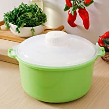 Trust Rice Cooker Cum Vegetable Steamer Green