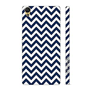 Enthopia Designer Hardshell Case Chevron Wave Back Cover for Sony Xperia C6