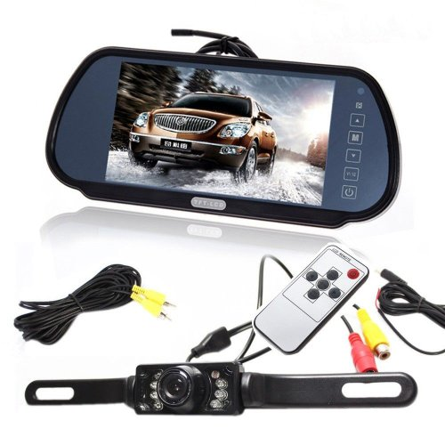 "TaoTronics® 7"" LCD Screen Car Rear View Backup Parking Mirror Monitor + Camera Night Vision"