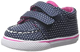 Sperry Top-Sider Hallie Crib H and L Boat Shoe (Infant/Toddler), Navy/Dot, 3 M US Infant