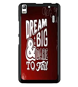 PrintDhaba Quote D-2102 Back Case Cover for LENOVO A7000 TURBO (Multi-Coloured)