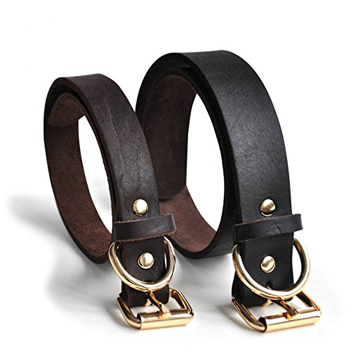 Chukchi-Real-Leather-Dog-Collar-Pet-Collar-Leather-Collar-Can-Punch-By-Self-Get-A-Piercing-Tool-S