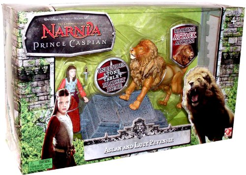 "Buy Low Price Jakks Pacific Disney Pictures ""The Chronicles of Narnia Prince Caspian"" 2 Pack 3 Inch Tall Action Figure Gift Set – Aslan and Lucy Pevensie with Aslan's Roaring Attack Action, Aslan's How Stone Tablet, and Lucy's Dagger (B004GHXU4Q)"