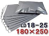 【100枚】 宅配ビニール袋(宅配ポリ袋) 巾180×高さ250+フタ40mm 色:グレー 厚み:90ミクロン LD18-25