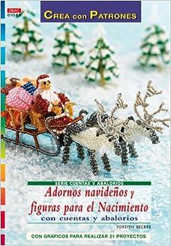 Adornos navidenos y figuras para el nacimiento con cuentas y abalorios