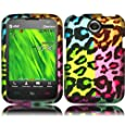 Hard Design Cover Case for Pantech Renue P6030 - Bright Colorful Leopard