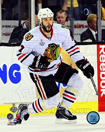 Brent Seabrook Game Winning Overtime Goal Game 4 of the 2013 Stanley Cup Finals Photo 8 x 10in