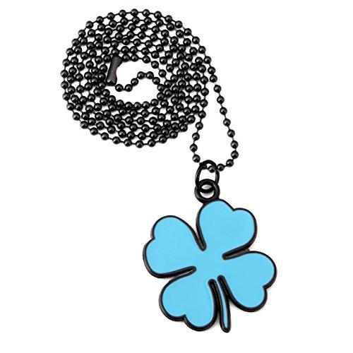 nyuk Unisex trifoglio ciondolo collana uomo/donna, Lega, colore: Blue, cod. W-1967