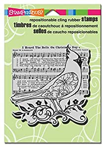 Stampendous cling rubber stamp cardinal for Rubber stamps arts and crafts