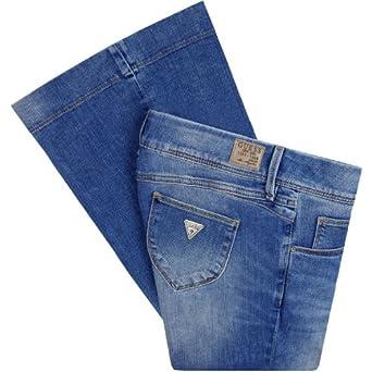 Jeans Kenna Flare Lotus Guess W25 Femme: Vêtements et