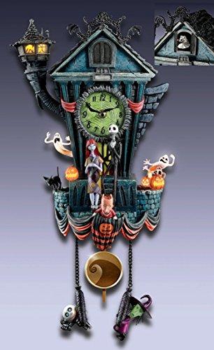 Cuckoo Clock: Tim Burton's The Nightmare Before Christmas Wall Clock by The Bradford Exchange