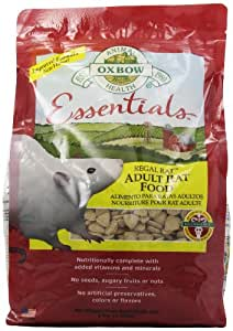 Amazon Com Oxbow Regal Rat Food 3 Pound Bag Pet Food