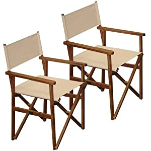 Ivory Director Chair PACK OF 2 Price For 2 Chairs FREE Delivery Amazo