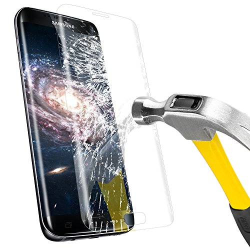 Galaxy S7 Edge Protection Ecran, Mture S7 Edge Film Protection En Verre Trempé Ultra Résistant Ecran Protecteur Pour Galaxy S7 Edge - Transparente 1