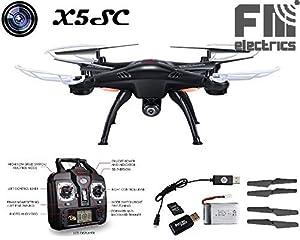 "Syma X5SC Explorer V2 Pro ""Black-Edition"" Quadrocopter, HD Kamera für Foto und Video, 3D-Edition !! von FM-Electrics mit Headless-Modus und Come-Home Funktion"