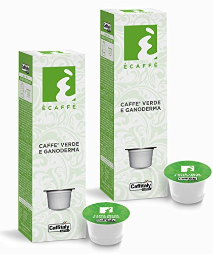 Order 20 Ècaffè Coffee Capsules CAFFÈ VERDE E GANODERMA - Green Coffee from Caffitaly System