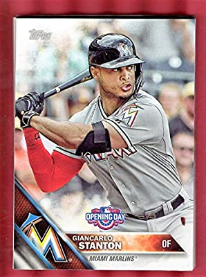 MIAMI MARLINS 2016 Topps OPENING DAY team set 9 cards
