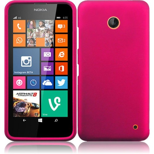 Nokia Lumia 635, EpicDealz (Hotpink) Slim Grip Snap-On Rubberized Hard Plastic Cover Case For Nokia Lumia 635 (Boost Mobile, Metro PCS, T-Mobile, Virgin Mobile) + Mini Stylus Pen + Case Opener (Nokia Lumia 635 Boost Mobile compare prices)