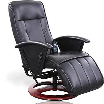 massagesessel fernsehsessel relaxsessel mit heizung und steuereinheit schwarz db804. Black Bedroom Furniture Sets. Home Design Ideas
