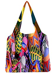 Snoogg Designer Eggs 2474 Womens Jhola Shape Tote Bag