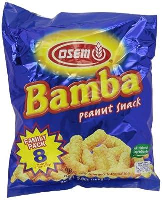 Bamba Snack, Peanut, 8 Count (.7 oz each) - 5.6 oz by Osem, USA